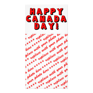 Happy Canada Day Text Image Card
