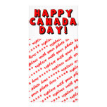 Happy Canada Day Text Image Photo Card Template