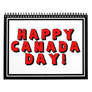 Happy Canada Day Text Image Calendar