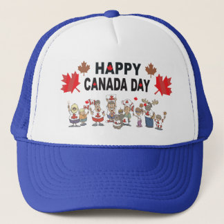 Happy Canada Day Trucker Hat