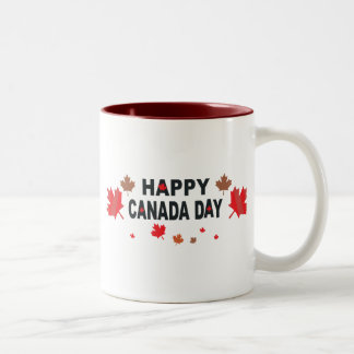 Happy Canada Day Two-Tone Coffee Mug