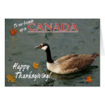 Happy Canadian Thanksgiving-Canada Goose Greeting Cards