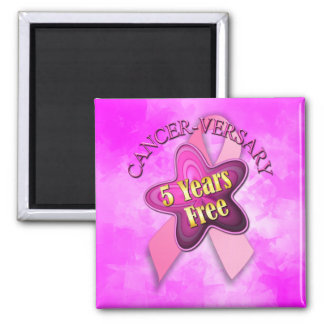Happy Cancer-versary 2 Inch Square Magnet