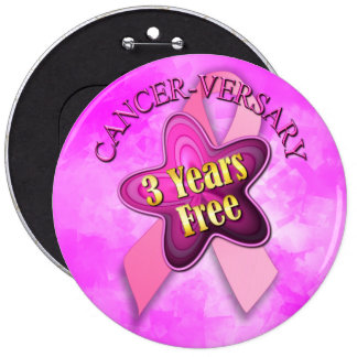 Happy Cancer-versary Button