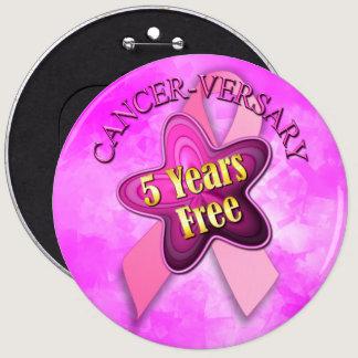 Happy Cancer-versary Pinback Button