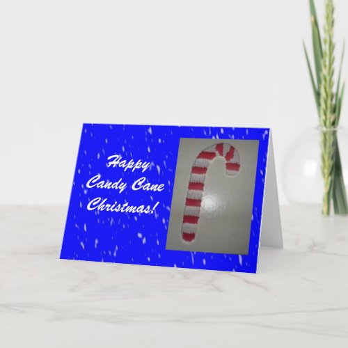 Happy Candy Cane Christmas card