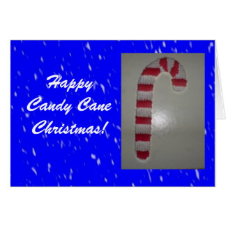 Happy Candy Cane Christmas Greeting Card