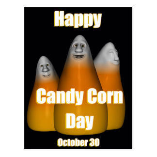 Happy Candy Corn Day October 30 Postcard