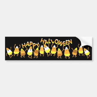 Happy Candy Corn Halloween Bumper Sticker