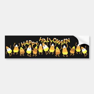 Happy Candy Corn Halloween Bumper Sticker Car Bumper Sticker