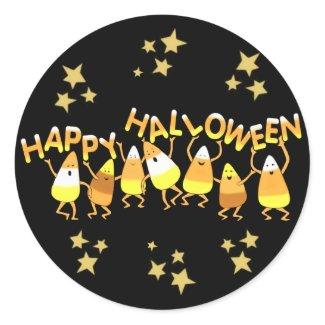 Happy Candy Corn Halloween Stickers