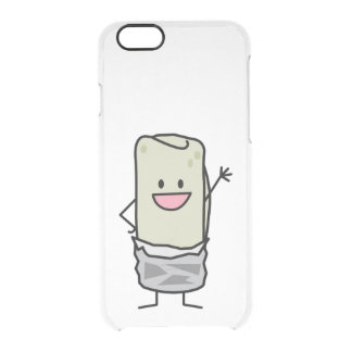 Happy Carne Asada Burrito Waving Hello Clear iPhone 6/6S Case