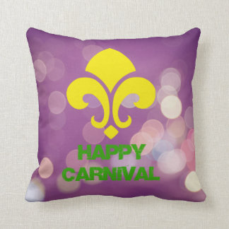 Happy Carnival Pillow with Bokeh Lights