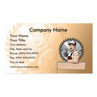 Happy Carpenter Double-Sided Standard Business Cards (Pack Of 100)
