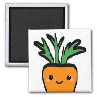 Happy carrot 2 inch square magnet