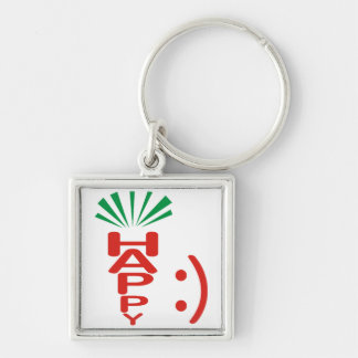 Happy Carrot and Smile Keychain