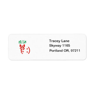 Happy Carrot Avery Label Return Address Label