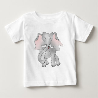 Happy cartoon African elephant Baby T-Shirt