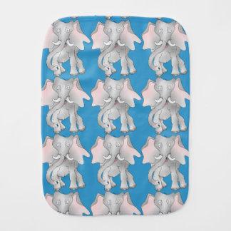 Happy cartoon African elephant Burp Cloth