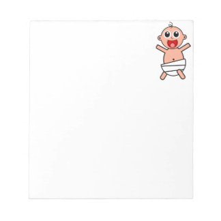 Happy Cartoon Baby Wearing Diaper Note Pads