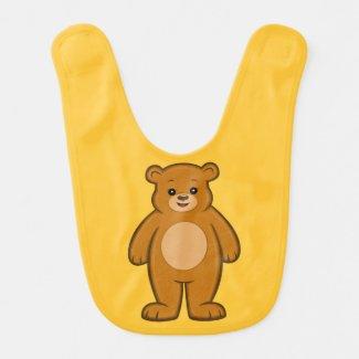 Happy Cartoon Bear Baby Bib