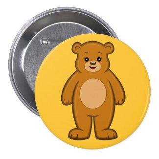 Happy Cartoon Bear Button