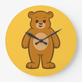 Happy Cartoon Bear Clock