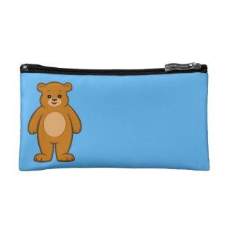 Happy Cartoon Bear Cosmetic Bag