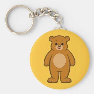 Happy Cartoon Bear Keychain