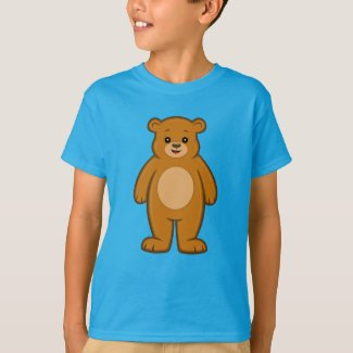 Happy Cartoon Bear Kid's T-Shirt