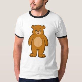 Happy Cartoon Bear Men's Ringer T-Shirt