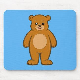 Happy Cartoon Bear Mouse Pad
