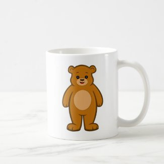 Happy Cartoon Bear Mug