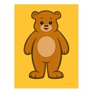 Happy Cartoon Bear Postcard