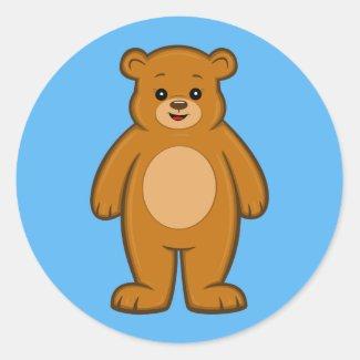Happy Cartoon Bear Sticker