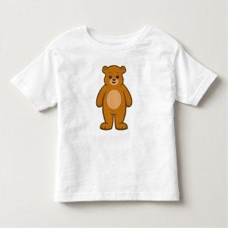 Happy Cartoon Bear Toddler T-Shirt