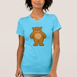 Happy Cartoon Bear Women's T-Shirt