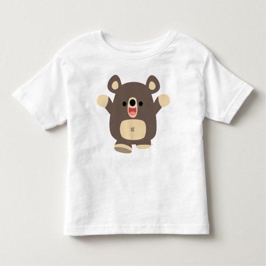 Happy Cartoon Black Bear  children T-shirt