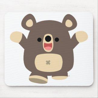 Happy Cartoon Black Bear mousepad mousepad