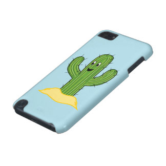 Happy Cartoon Cactus Guy (Blue Background) iPod Touch (5th Generation) Cover
