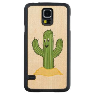 Happy Cartoon Cactus Guy Carved® Maple Galaxy S5 Case