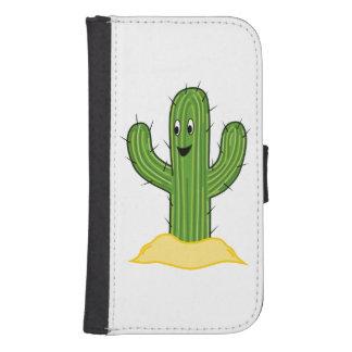 Happy Cartoon Cactus Guy Phone Wallet