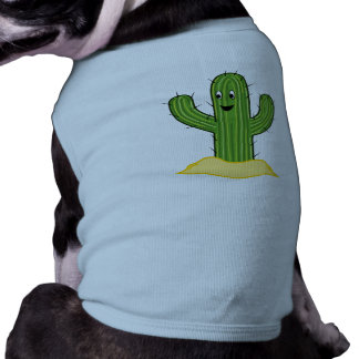 Happy Cartoon Cactus Guy T-Shirt