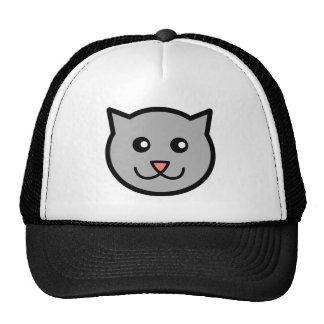 Happy cartoon cat mesh hats
