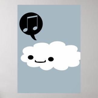 Happy Cartoon Cloud Poster