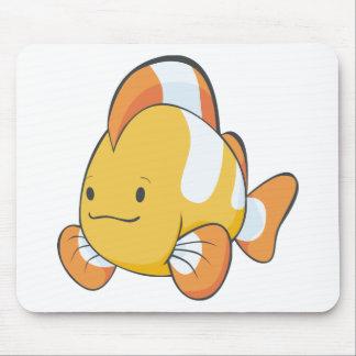 Happy Cartoon Clownfish Mouse Pad