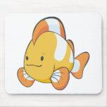 Happy Cartoon Clownfish Mousepad