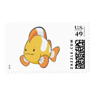 Happy Cartoon Clownfish Stamps