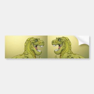 Happy Cartoon Dinosaur Giving the Thumbs Up! Car Bumper Sticker