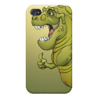 Happy Cartoon Dinosaur Giving the Thumbs Up! Covers For iPhone 4